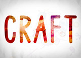 Craft Concept Watercolor Word Art