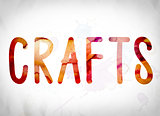 Crafts Concept Watercolor Word Art
