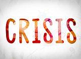 Crisis Concept Watercolor Word Art