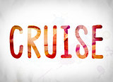 Cruise Concept Watercolor Word Art