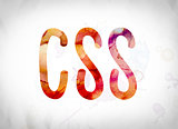 CSS Concept Watercolor Word Art