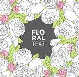 Floral peonies background
