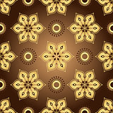 Vintage brown seamless pattern
