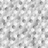 Grey metallic hexagons pattern texture