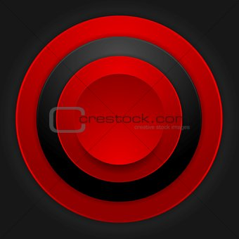 Abstract corporate red black circles design