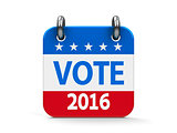 Vote election 2016 icon calendar