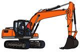 Orange big excavator