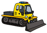 Yellow small snowplow