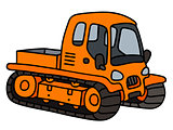 Orange tracked vehicle