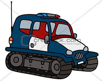 Small police tracked vehicle