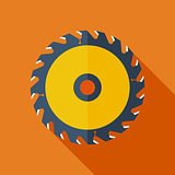 Modern flat design concept icon. Vector illustration.Saw circula