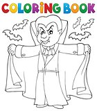 Coloring book vampire theme 2