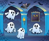 Ghosts in haunted castle theme 3