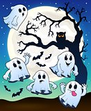 Halloween image with ghosts theme 2