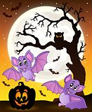 Halloween theme with bats 1