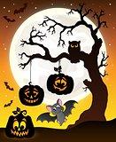 Halloween tree silhouette theme 6
