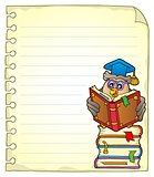 Notebook page with owl teacher 5