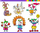 circus clown characters set