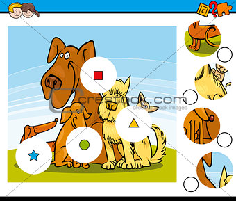 match the pieces task with dogs