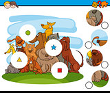 match the pieces game with dogs