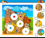 match pieces activity with dogs