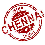 Red Chennai stamp