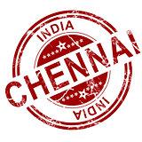 Red Chennai stamp