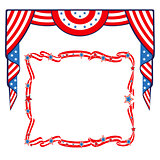 US Flag patriotic border template.