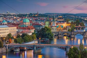 Prague Sunset.