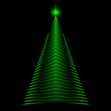 Abstract christmas tree made of green triangles. greeting card background