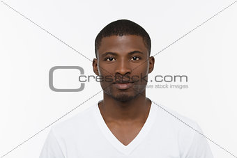 African man posing in studio