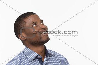 Afro-American man posing in studio