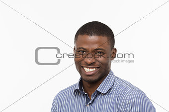 Afro-American businessman in studio