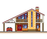 House cottage vector graphics