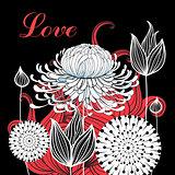Flower graphics card