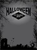 Halloween dark grunge poster