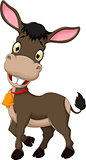 funny donkey cartoon posing