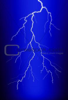 A flash of lightning