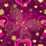 Valentine seamless purple pattern
