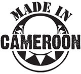 Decorative stamp Made in Cameroon