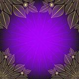 Violet vintage frame