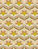 Sixties flower wallpaper