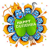 Ravana with ten heads for Dussehra