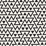 Vector Seamless Black and White Irregular Triangles Grid Pattern