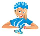 Cyclist woman