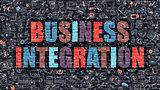 Business Integration in Multicolor. Doodle Design.