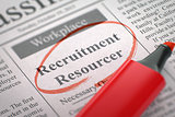 Recruitment Resourcer Join Our Team. 3D.
