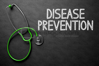 Chalkboard with Disease Prevention Concept. 3D Illustration.