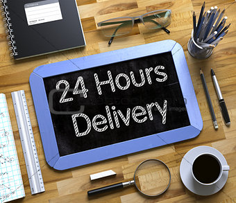 Small Chalkboard with 24 Hours Delivery. 3D.