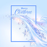 Shine winter background with snowflakes for christmas design